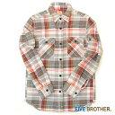 ネルシャツ USネルワークシャツ メンズ チェックシャツ 【FIVE BROTHER (ファイブブラザー)】 (1516086)