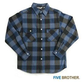 EXヘビーネルワークシャツカジュアルシャツトップスメンズファッションFIVEBROTHER(ファイブブラザー)(151740)【送料無料】