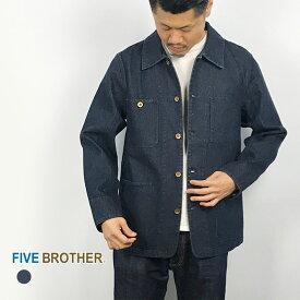 [19SS新作]FIVE BROTHER ファイブブラザー メンズコート・ジャケット デニムアウター メンズアウター デニムアウター デニムカバーオール・151911D アウター デニム メンズ MEN'S 長袖