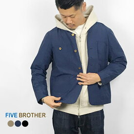 [19SS新作]FIVE BROTHER ファイブブラザー メンズアウター メンズアウター・ジャケット メンズナイロンジャケット ナイロンエンジニアジャケット・151912N アウター ナイロン ノーカラー メンズ MEN'S 長袖