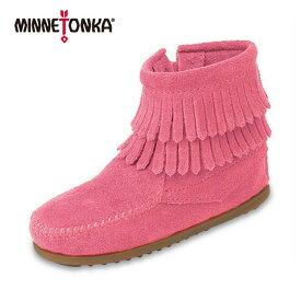 ミネトンカ キッズ MINNETONKA minnetonka DOUBLE FRINGE SIDE ZIP CHILDREN'S 2292 ダブルフリンジサイドジップ 日本正規代理店