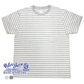 【VelvaSheen(ベルバシーン)】NARROWBORDERS/SC/NW/PKTEE(161560W)ナローボーダー半袖クルーネックTシャツ(ポケット付)日本正規代理店