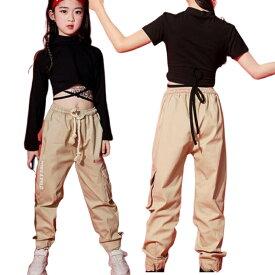 セットアップ キッズ ダンス衣装 ヒップホップ ダンス衣装 半袖 tシャツ カーゴパンツ ガールズ ボーイズ 韓国 キッズダンス 衣装 上下セット ズボン ストリート系 ダンスウェア hiphop