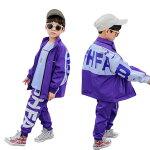 子供服ダンス衣装ヒップホップキッズダンス衣装パーカータンクトップパンツ3点セットアップヒップホップキッズダンス衣装ジャージ上下