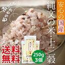 【メール便送料無料】武富勝彦さんの古代米雑穀ブレンド「縄文の米 十三穀」250g×3個