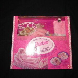 豪華なベッドセットです♪1994年★Barbie★Bedtime Barbie★ベッドタイムバービー★人形★フィギュア