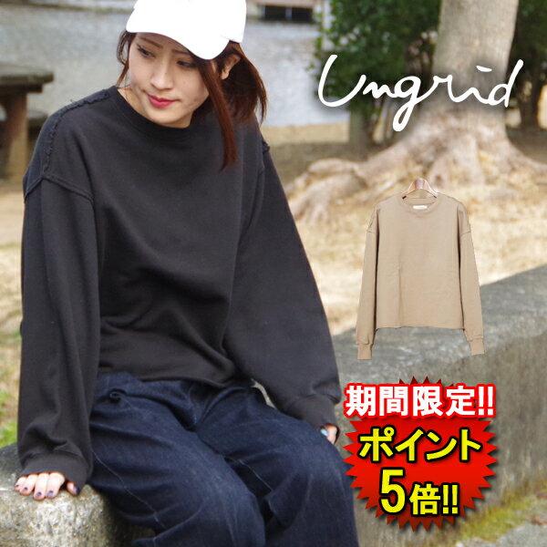 アングリッド【Ungrid】ショートリメイクスウェット (11812716001) Lad's 2color □