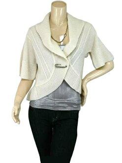 SPLASH FAST [スプラッシュファースト] rope pattern with short sleeve knit Bolero