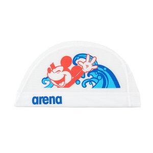 【メール便OK】2020-2021 FW ARENA(アリーナ) DIS-0358 ディズニー メッシュキャップ 水泳 スイムキャップ 練習用 トレーニング ミッキー