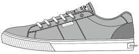ELLESSE(エレッセ) VCU612 男女兼用 ティレニア スニーカー カジュアルシューズ グレー【SALE】