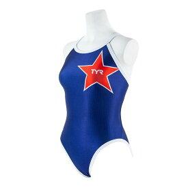 【メール便OK】TYR(ティア) DLOGO-19F レディース 競泳トレーニング水着 レギュラーカット フレックスバック 女性用