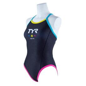【メール便OK】TYR(ティア) DCLUB-20S レディース 競泳トレーニング水着 レギュラーカット ダイアモンドバック 練習用