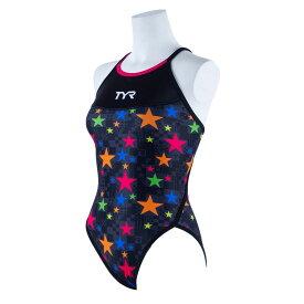 【メール便OK】TYR(ティア) FSTAR-20S レディース ハイカット フレックスバック 競泳トレーニング水着 練習用