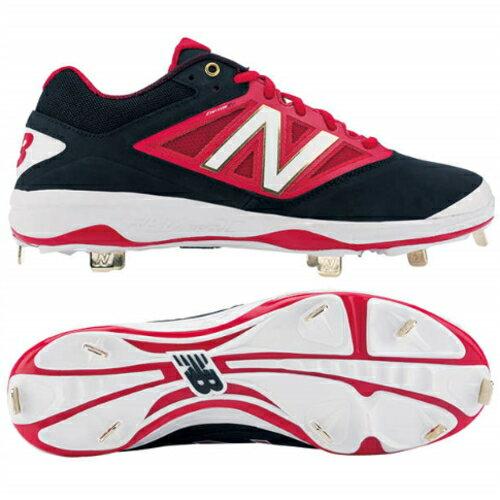 new balance(ニューバランス)野球スパイク L4040 BR3 ワイズD ブラック×レッド L4040BR3D 埋込み式 樹脂底 野球 スパイク