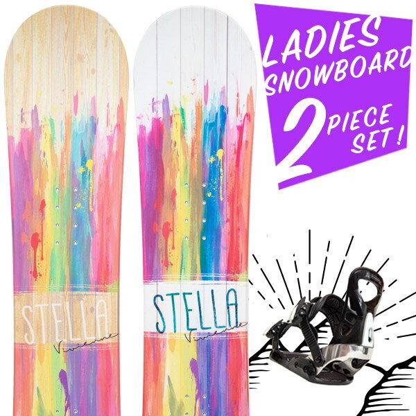 【SALE告知:1/24(木) 20時】【全品2倍】【2000円OFFクーポン】【取付無料】スノーボード 2点セット 板 レディース VIVIENNE ボード 板 スノーボード スノボ スノボー グラトリ 2点 snowboard【まとめ買い相談可】