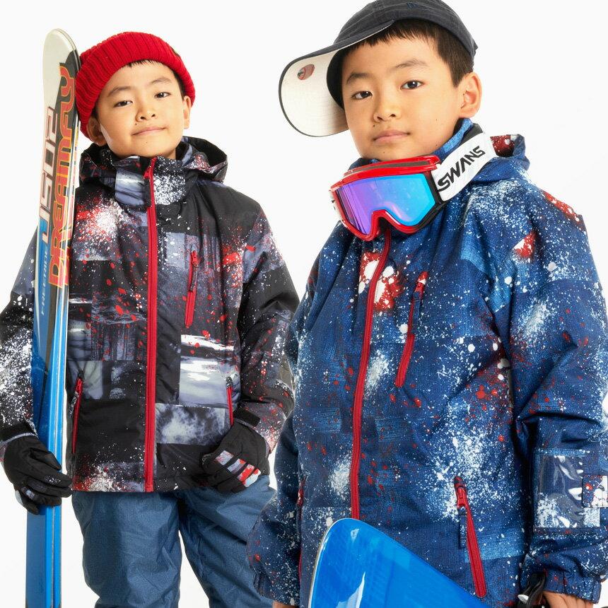 【激烈祭!3/20(火)】スキーウェア キッズ ジュニア スノーウェア 雪遊び 子供用 男の子 上下 セットウエア 120 130 140 150 160 ボーイズ