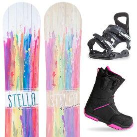 【500円クーポン】【バイン取付無料】【デッキパッドプレゼント】スノーボード 3点セット 板 レディースVIVIENNE 板 スノーボード スノボ スノボー グラトリ 3点snowboard ツヤ消し マットコーティング