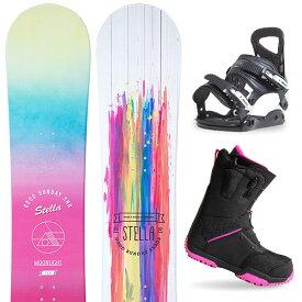 【500円クーポン】【バイン取付無料】【デッキパッドプレゼント】スノーボード 3点セット 板 レディースMOONLIGHT JULIANNE 板 スノーボード スノボ スノボー グラトリ 3点snowboard ツヤ消し マットコーティング