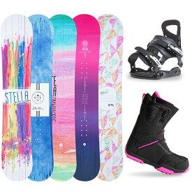 【1000円クーポン】【バイン取付無料】スノーボード 3点セット 板 レディース スノボ スノボー グラトリ 3点 snowboard