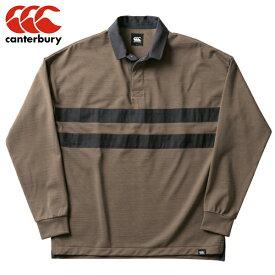 カンタベリー CANTERBURY ロングスリーブ ドライ ミックス ラガーシャツ ユニセックス RA49562-61ラグビー ジャージ 長袖 冬 防寒 カジュアル