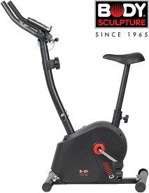 【期間限定P10倍】フィットネスバイク マグネティックバイク エアロバイク 負荷8段階調整 脈拍測定機能付き タブレットラック TKS91HM014 ブラック BODY SCULPTURE