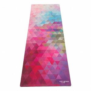 Yoga Design Lab (ヨガデザインラボ) ヨガマット 厚さ1mm トラベルマット トライベッカ・サンド 軽量 折りたたみ ストラップ付 トレーニング ピラティス フィットネス エクササイズマット