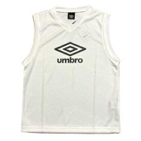 【umbro】アンブロ TRジュニア用 ノースリーブプラシャツ (V首)