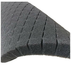 ブロッククッション スポンジ 厚10.0mm幅660mm×長990mmマス目状に切れ目が入っていて手で自由にちぎれます。収納物の形状や大きさに合わせて アルミケース 工具箱 緩衝材 内装クッション材