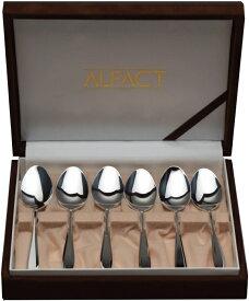 ALFACT 洋白銀器モンロー ティースプーン6pc カトラリーセット (名入れ無料)【送料無料】【日本製/荒澤製作所】