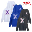 [20%OFF] X-girl エックスガール Tシャツ X-LOGO L/S BIG TEE 05181104