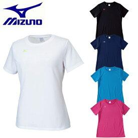 【あす楽】 MIZUNO ミズノ レディース Tシャツ(半袖) ナビドライ(吸汗速乾)ワンポイント 32MA5335