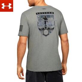 アンダーアーマー メンズ 半袖 T シャツ / 1352156 / Tシャツ / トレーニング ヒートギア ルーズ フリーダム タクティカル グラフィック (ゆうパケット発送)