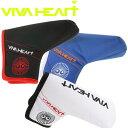 VIVA HEART ビバハート ゴルフ タフタ パター カバー ブレード / ピン 型用 013-96833
