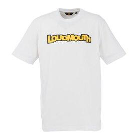 LOUDMOUTH GOLF ラウドマウス ゴルフ メンズ 半袖 Tシャツ 769609 / カラー: 999 White ホワイト 19年モデル (lmnk19t)