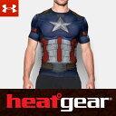 UNDER ARMOUR ヒートギア アーマー コンプレッション 半袖 メンズ Tシャツ オルターエゴ 1273691 メンズ Tシャツ (キャプテンアメリカ / アベンジャーズ インフィニティウォー