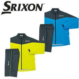 DUNLOP SRIXON ゴルフ メンズ レインウェア 上下セット (ジャケット + パンツ) SRM9000 / ダンロップ スリクソン
