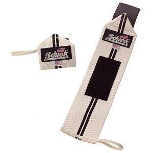 Schiek シーク 筋トレ リストラップ 12インチ 1112W ホワイト/ブラックライン フリーウェイトトレーニング用