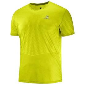 SALOMON サロモン トレイルランニング 半袖Tシャツ SENSE TEE M LC1045600 CITRONELLE