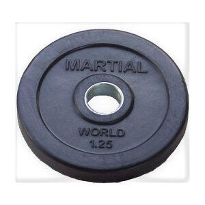 マーシャルワールドジャパン ラバープレート穴径28mm 1.25kg RP1250 バーベル/ダンベル用