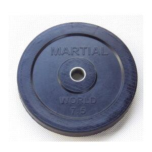 マーシャルワールドジャパン ラバープレート穴径28mm 7.5kg RP7500 バーベル/ダンベル用