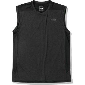 THE NORTH FACE ザ・ノース・フェイス ランニング Tシャツ ノースリーブ スリーブレステックニットクルー NT12091 メンズ ブラック