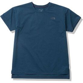 THE NORTH FACE ザ・ノース・フェイス ランニング Tシャツ 半袖 ショートスリーブエイペックスジャージークルー NTW12099 レディース ブルーウィングティール