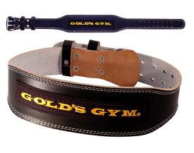 GOLDS GYM ゴールドジム ブラックレザーベルト G3367 ウエイトトレーニングベルト<店頭在庫限り>