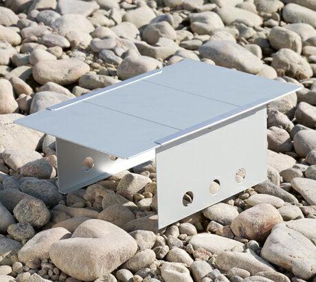 ダンロップ DUNLOP 組み立て式コンパクトテーブルアルミ BHS102 アルミ天板