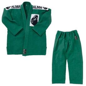 マーシャルワールド ALMA アルマ レギュラーキモノ国産柔術着 JU1 A3 緑 上下セット