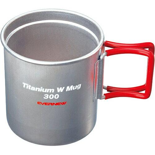 EVERNEW エバニュー チタンWマグカップ 300FH RED EBY269R 300ml 2重構造