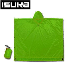 ISUKA イスカ 雨具レインウエア ウルトラライト ベーシックポンチョ 2754 02 グリーン