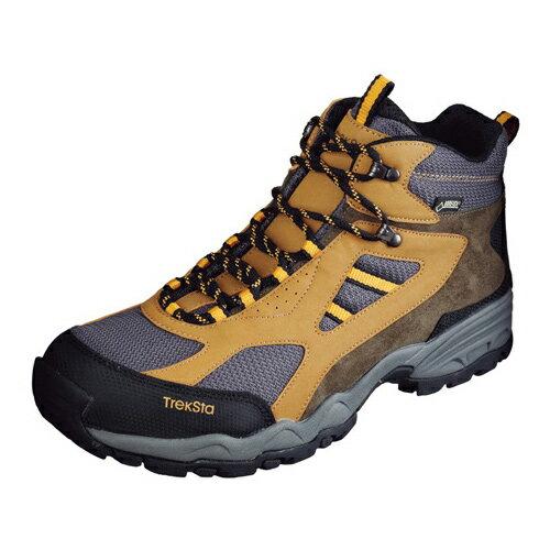 TrekSta トレクスタ FP-0401MID GTXライト EBK166 トレッキングシューズ 登山靴 メンズ グレー/イエロー<在庫僅少>