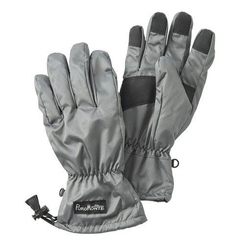 プロモンテ PuroMonte ライトシェルレイングローブ 手袋 GB052U グレー