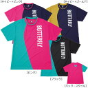 バタフライ Butterfly 卓球ウエア レイクアップ・Tシャツ 45030 男女共通ユニセックス ネイビー/ピンク<在庫僅少>
